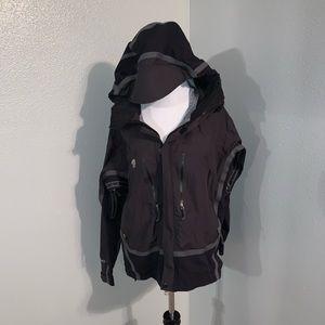 Men's black mountain hardwear rain jacket